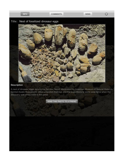 Audioguide iPad, App, exemple monument